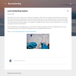 Learn Handwriting Analysis