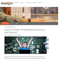 Learn to Code: 16 Handy Resources to Get Started