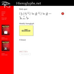 Learn Hieroglyphs