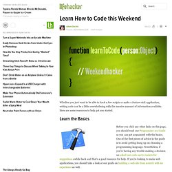 Learn How to Code this Weekend - Lifehacker