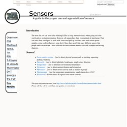 Learn how to use electronic sensors