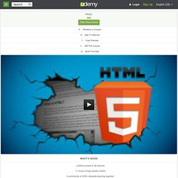 HTML5 Beginners Crash Course by Robin Nixon