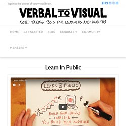 Learn In Public - Verbal To Visual