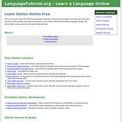 Learn Italian Online Free