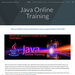 Learn Java Online Course