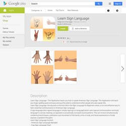 Learn Sign Language - Android Apps on Google Play