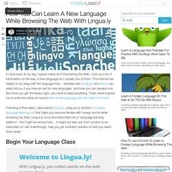 How You Can Learn A New Language While Browsing The Web With Lingua.ly