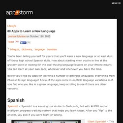 80 Apps to Learn a New Language
