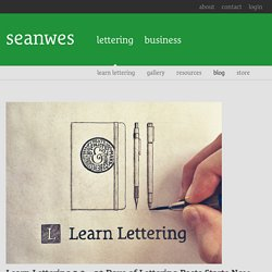 Learn Lettering 2.0 – 30 Days of Lettering Posts Starts Now by seanwes