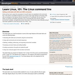Learn Linux, 101: The Linux command line