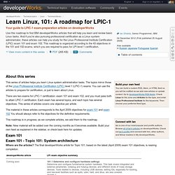 Learn Linux, 101: A roadmap for LPIC-1