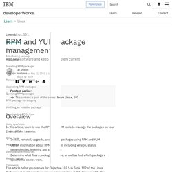 Learn Linux, 101: RPM and YUM package management