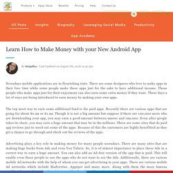 Learn How to Make Money with your New Android App