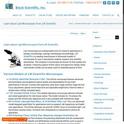 Learn about Lab Microscopes from LW Scientific