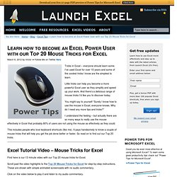 Excel Speed Mouse Tricks