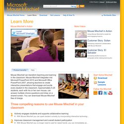 Learn More | Microsoft Mouse Mischief