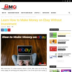 Learn How To Make Money On Ebay Without Investment