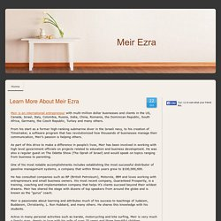 Learn More About Meir Ezra