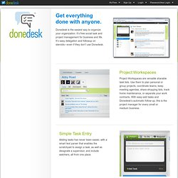 Learn More - Donedesk