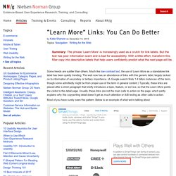 """""""Learn More"""" Links: You Can Do Better"""