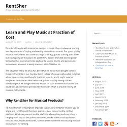 Learn and Play Music at Fraction of Cost