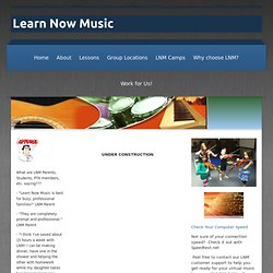 Learn Now Music - Virtual Music Lessons On-Line