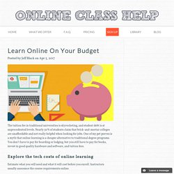 Learn Online On Your Budget