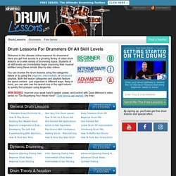 » Learn How To Play Drums With HD Video Drum Lessons