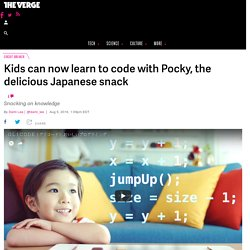 Kids can now learn to code with Pocky, the delicious Japanese snack