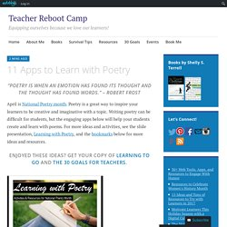 11 Apps to Learn with Poetry – Teacher Reboot Camp
