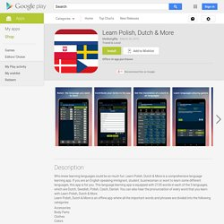 Langues européennes – Applications Android sur GooglePlay