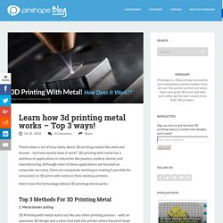 Learn how 3d printing metal works - Top 3 ways!
