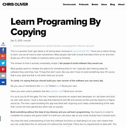 Learn Programing By Copying