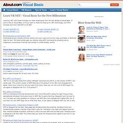 Learn VB.NET programming including ASP.NET, ADO.NET, and VS.NET.