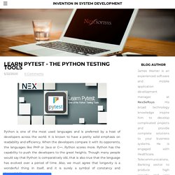 Overview of Pytest: The Python Testing Tools