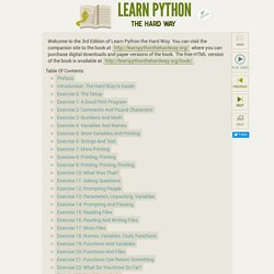 Learn Python The Hard Way, 2nd Edition — Learn Python The Hard Way, 2nd Edition