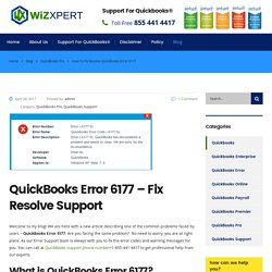 Learn how to fix Quickbooks error 6177 and get support @ +1-855 441 4417