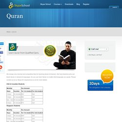 Learn Quran via Skype