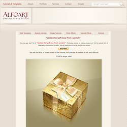 Learn to draw a realistic golden box or how to make a golden foil with your own hands