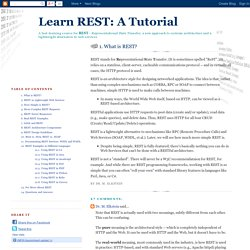 1. What is REST?