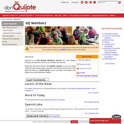 don Quijote Members | donQuijote.org