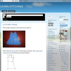 LEARN STITCHING: STITCH BABY CHEMISE