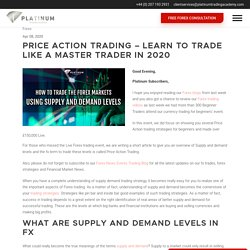 Learn how to trade - PRICE ACTION TRADING