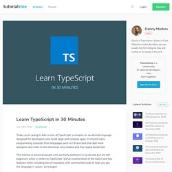 Learn TypeScript in 30 Minutes