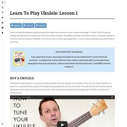 Learn To Play Ukulele: Lesson 1 - Will Grove-White