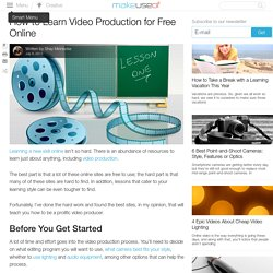 How to Learn Video Production for Free Online