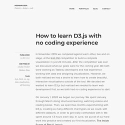 How to learn D3.js with no coding experience