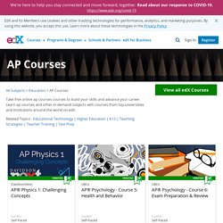 Learn AP with Free Online AP Courses