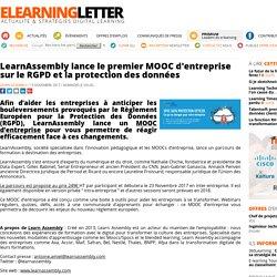 LearnAssembly lance le premier MOOC d'entreprise sur le RGPD et la protection des données