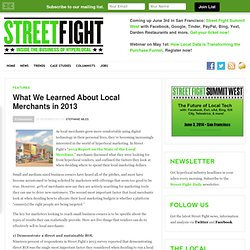 What We Learned About Local Merchants in 2013